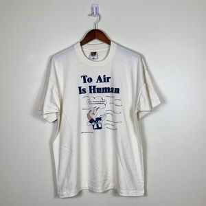 Vintage 90s to air is human single stitch shirt